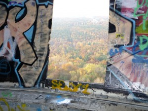 Inside Teufelsberg's listening ball